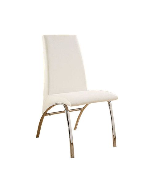 Benzara Contemporary Side Chair -Steel Tube - Set Of 2