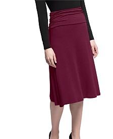 YALA Stella Tea Length Viscose from Bamboo Skirt