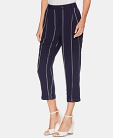 Vince Camuto Striped Cuffed Pants