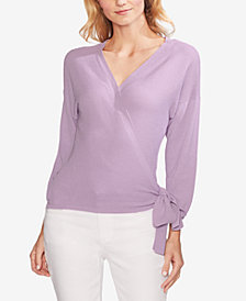 Vince Camuto Ribbed Wrap Sweater