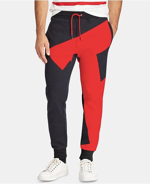 Polo Ralph Lauren Men's P-Wing Double-Knit Graphic Jogger Pants