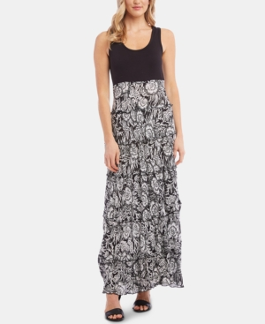 Karen Kane Dresses PRINTED TIERED MAXI DRESS, A MACY'S EXCLUSIVE