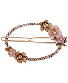 lonna & lilly Gold-Tone Pink Flower Hair Clip, Created for Macy's