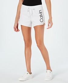 Calvin Klein Performance Logo Curved-Hem Shorts