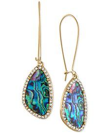 Gold-Tone Shell Drop Earrings