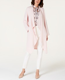 Nine West Open-Front Duster Jacket