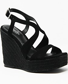 CHARLES by Charles David Damon Platofrm Wedge Sandals