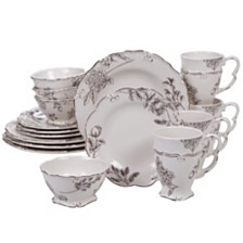 Certified International Vintage Cream with Floral 16-Pc. Dinnerware Set