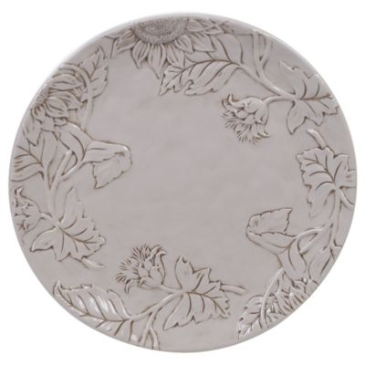 Toile Rooster Embossed Round Platter