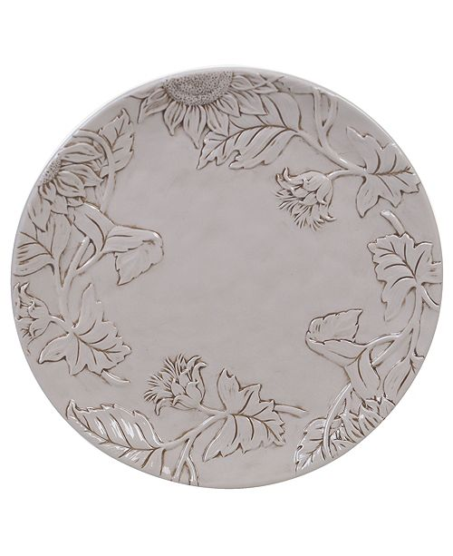 Certified International Toile Rooster Embossed Round Platter