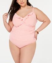 ce6d8b8457 Lauren Ralph Lauren Plus Size Seersucker Tankini Top & Bottoms