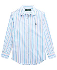 Big Boys Stripe Dress Shirt