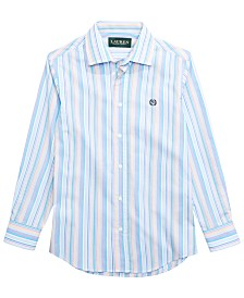 Lauren Ralph Lauren Big Boys Stripe Dress Shirt