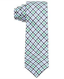 Lauren Ralph Lauren Big Boys Green Gingham Multi-Check Silk Tie
