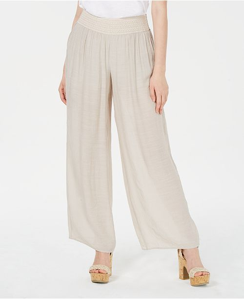 BCX Juniors' Wide-Leg Gauze Pants
