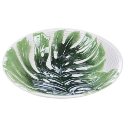 Palm Leaves 3-D Embossed Serving Bowl