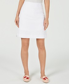 Charter Club Textured Pull-On Pencil Skort, Created for Macy's