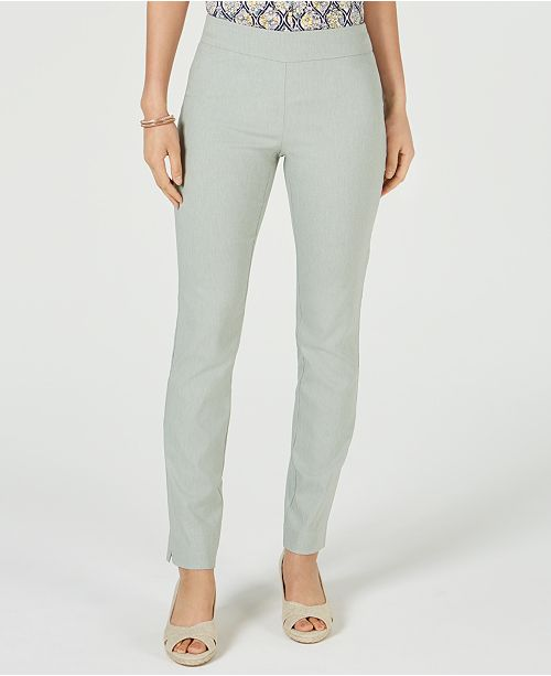 Charter Club Cambridge Tummy-Control Pants, Created for Macy's