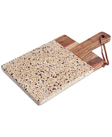 Thirstystone Congo Sunset Brown Terrazzo and Mango Wood Paddle Board with Loop