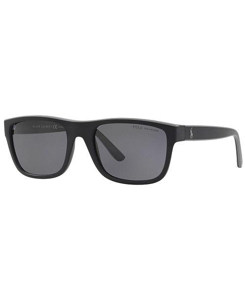 Polo Ralph Lauren Polarized Sunglasses, PH4145 56