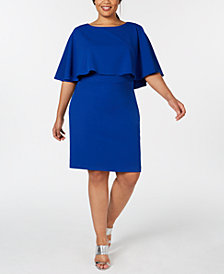 Calvin Klein Plus Size Capelet Sheath Dress