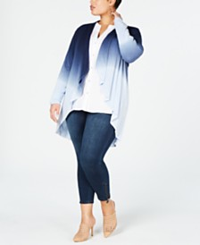 I.N.C. Plus Size Dip-Dye Cozy Completer, Created for Macy's