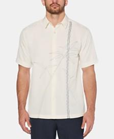 Cubavera Men's Leaf Embroidered Shirt