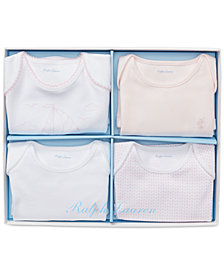 Polo Ralph Lauren Baby Girls 4-Pc. Bodysuit Gift Set