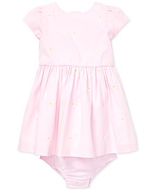 Polo Ralph Lauren Baby Girls Floral-Print Fit & Flare Cotton Dress