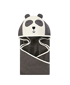 Baby Girls and Baby Boys Animal Face Hooded Towel, 1-Pack