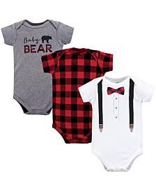 Baby Vision 0-24 Months Unisex Little Treasure Baby Cotton Bodysuits, Short-Sleeve 3-Pack