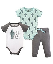 Baby Vision 0-24 Months Unisex Baby Bodysuit and Pant, 3-Piece Set