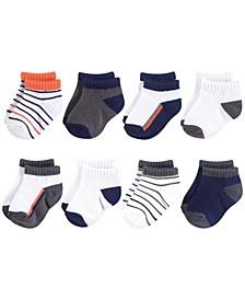 Unisex 0-24 Months Baby Socks, 8-Pack