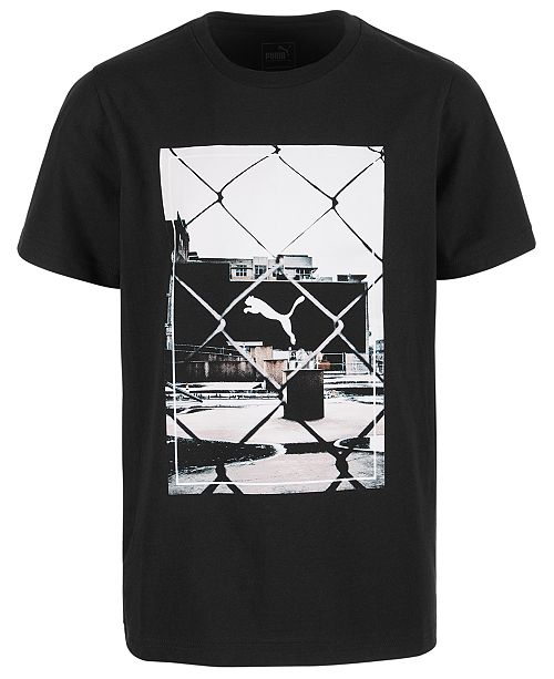 Puma Big Boys Graphic-Print Cotton T-Shirt