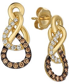 Chocolatier® Diamond Drop Earrings (3/8 ct. t.w.) in 14k Gold