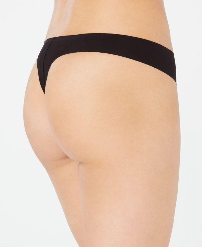 DKNY Litewear Cut Anywhere Logo Thong Underwear DK5026 & Reviews - Bras, Panties & Lingerie - Women - Macy's