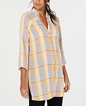 e2ca522e56bdd9 Plaid Shirts For Women: Shop Plaid Shirts For Women - Macy's