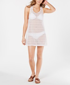 Miken Juniors' Crocheted Cover-Up Dress, Created for Macy's