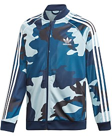 adidas Originals Big Boys Camo-Print Track Jacket
