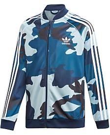 adidas Originals Big Boys Camo-Print Track Jacket