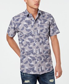 American Rag Men's Leaf Print Shirt, Created for Macy's