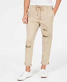 Men's Slim-Fit Destructed Chinos