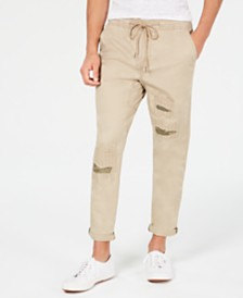 American Rag Men's Slim-Fit Destructed Chinos