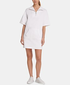 DKNY Sport Quarter-Zip Shirtdress