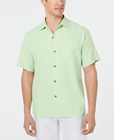 Tommy Bahama Men's Micro Diamond Silk Shirt, Created for Macy's