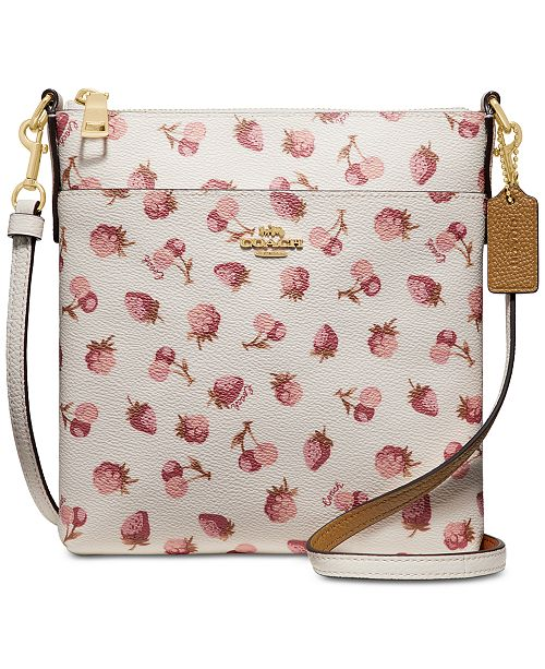 9ad2ff64a57f7 COACH Fruit-Print Kitt Crossbody   Reviews - Handbags   Accessories ...