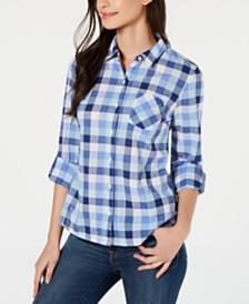 Tommy Hilfiger Gingham Cotton Button-Down Shirt