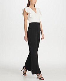 Ruffle Detail Jumpsuit, Created for Macy's