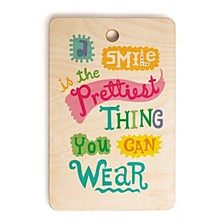 A Smile Is the Prettiest Thing You Can Wear Rectangle Cutting Board