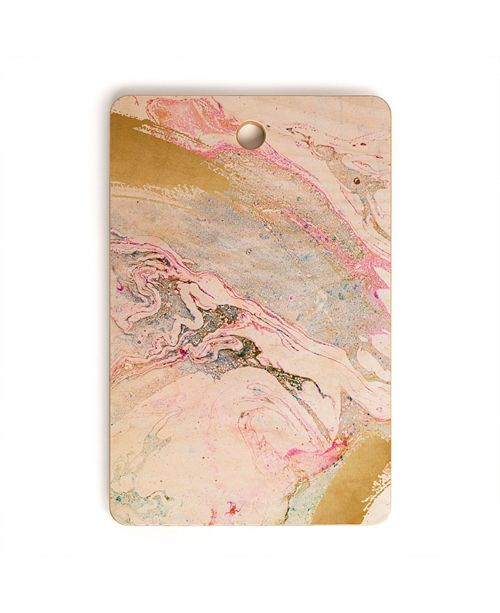 Deny Designs Winter Marble Rectangle Cutting Board